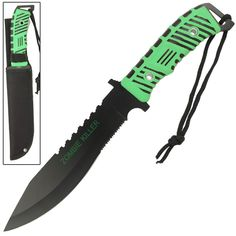 Razor sharp out of the box with a piercing pin point tip, this big 13 inch full tang survival knife is ready for action. #viperfulltangzombiekillersurvivalknife