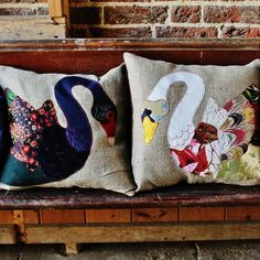 White Swan by Carola van Dyke Modern Upholstery Fabric, Colourful Cushions, White Swan, Cotton Linen, Making Out, Christmas Stockings, Textiles, Van, Throw Pillows