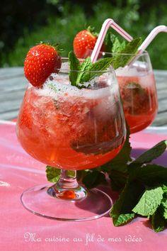 """En ce jour de """"fête des mères"""" (en Belgique c'est aujourd'hui !), je vous propose de réaliser ce délicieux cocktail rafraîchissant :-)..."""