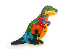Dinosaur toys: T rex number puzzle