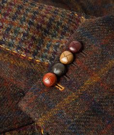 Harris Tweed Check Panel Jacket, Rust