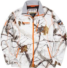 FXR Racing - Snowmobile Gear - Men's Elevation Full-Zip Fleece - Realtree APHD Snow