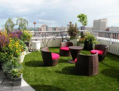 1000 images about cesped artificial terrazas on pinterest - Terraza con cesped artificial ...