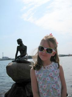 My 6 year-old meets the Little Mermaid. From 5 things to do in Copenhagen with kids. via @travelmamas