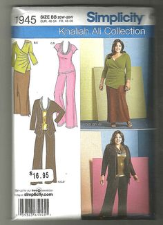 Simplicity 1945 Plus sizes sewing pattern 20w by NoodlesNotions, $10.00