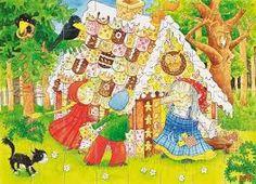 Hier weer het terugkerende peperkoekenhuisje en de heks Christmas Ornaments, Holiday Decor, Painting, School, Google, Art, Art Background, Christmas Jewelry, Painting Art