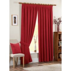 Warm Burgundy Curtains for Living Room — Office PDX Kitchen Red Curtains Living Room, Living Room Red, Living Room Colors, Living Room Designs, Burgundy Curtains, Neutral Curtains, Curtain Designs, Argos, Home Decor