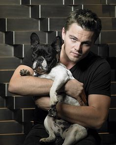 Leonardo DiCaprio and his frenchie