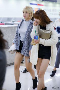 AOA ChoA and JiMin @ Airport