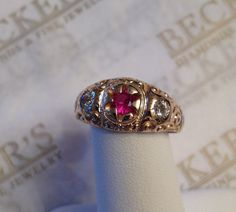 Beautiful Antique Victorian 10k yellow gold by BeckersJewelersCT