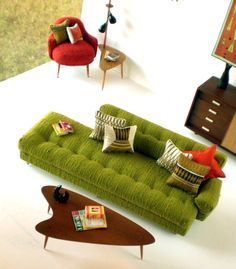 Create a perfect doll house with tiny details. ----Morrison's furniture - amazing mid century modern in 1:6th scale