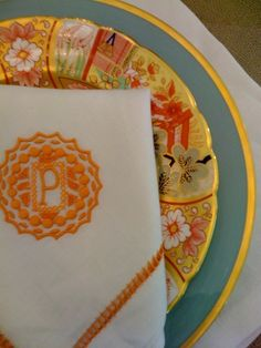 Monogram and plate
