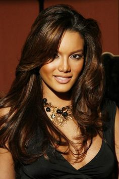 chocolate brown hair on dark skin - Google Search