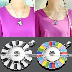 1X Flower Round Disc Snap Charm Pendant for Buckle Punk Style Necklace DIY   http://www.ebay.com/itm/1X-Flower-Round-Disc-Snap-Charm-Pendant-Buckle-Punk-Style-Necklace-DIY-/390939487400?pt=LH_DefaultDomain_0&var=&hash=item99bd11255f