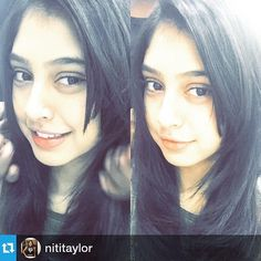 Posted by Our angel @niti_taylor  And I finally got a new haircut !! Finally styling my hair !  Lovely hair cut