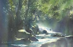 great trees - sparkle in leaves Kanta Harusaki  2014 Watercolor47×30cm