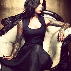 Dress and sleeves