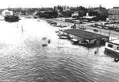 Port of Burlington during the Flood of 1965