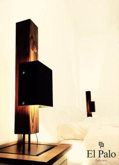 Tischlampen - LED Tischleuchte Tischlampe aus Holz - El Palo - ein Designerstück von El-Palo bei DaWanda