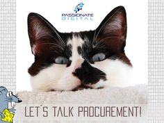 Let's talk #Procurement :-) Smiling greetings to you! Your team from Passionate Digital W78 GmbH, Professional Management & Procurement Consulting, www.passionate-digital.com #sap #ariba #management #procurement #consulting #beratung #einkauf #beschaffung #österreich Passion, Cats, Animals, Project Management, Counseling, Shopping, Gatos, Animales, Animaux