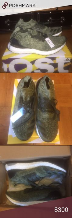 Adidas ultra boost uncaged tech earth. Brand new,never worn with tags, and box, Adidas ultra boost uncaged olive green tech earth size 10.                                                           Willing to negotiate price, and will accept offers. Message me with questions. adidas Shoes Sneakers