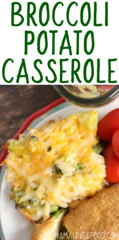Broccoli Cheese Potato Casserole - Mama Loves Food