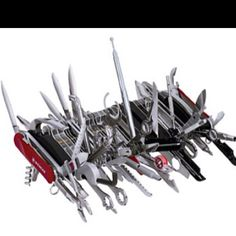 If you really want to know each of the 85 functions this Swiss Army Knife provides, you'll just have to go to the link because there's simply not enough room here. Suffice to say that this device is the Guinness World Record Holder for the most multifunctional penknife and that it retails for 1000 dollars