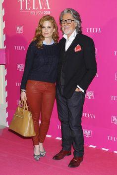 Olivia de Borbón y el peluquero Alberto Cerdán y el peluquero Alberto Cerdán durane los premios Telva de Belleza