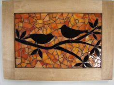 Mosaico pájaros al atardecer por greenspringstudio en Etsy