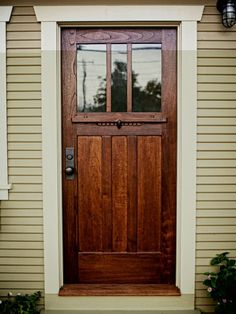 mission style front door a craftsman style door of cedar and antique glass mission style exterior door hardware mission style wood entry doors Craftsman Front Doors, Doors, Exterior Doors, House Exterior, House Design, Wood Doors, Craftsman House, Craftsman Style Doors, Doors Interior