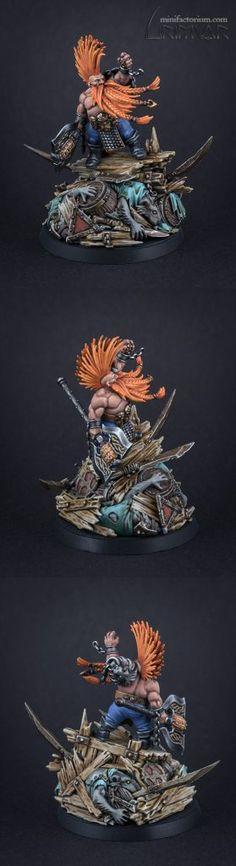 Gotrek Gurnisson – minifactorium Figure Model, Dwarf, Sci Fi, Miniatures, Fantasy, Models, Painting, Female Dwarf, Paint
