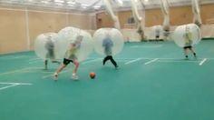 Cricketers play football wearing giant bubbles – looks fun! Bubble Video, Giant Bubbles, Giant Inflatable, Cricket, Football, Play, Fun, Soccer, Futbol