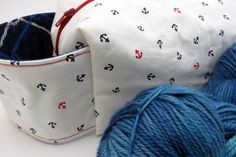 Knitting Project Bag // Box Bag // Zippered Bag // Anchors Away Anchors away! Going on a sailing trip to get away from the dreary weather? Or just preparing for a summer on the water? This bag wants to travel My Other Bag, Sailing Trips, Pink Skull, Box Bag, Knitted Bags, Stitch Markers, Anchors, Zipper Pouch, Knitting Projects