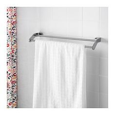 IKEA - KALKGRUND, Handduksstång, , Du slipper synliga skruvar eftersom beslagen är dolda.Den kromade ytan är tålig och står emot rost.
