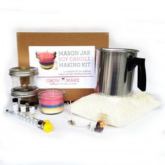 16 diy kits that will help you find a new hobby heart cooking and deluxe mason jar soy wax candle making kit creative diy kits diy gift ideas solutioingenieria Choice Image