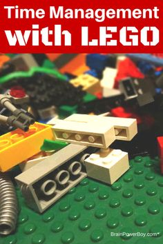 Help kids learn to manage time with LEGO bricks. This is an easy technique to learn. No special bricks required! Time Management Activities, Time Management Tools, Management Games, Lego Activities, Activities For Adults, Counseling Activities, Lego Therapy, Time Management Techniques, Teaching Boys