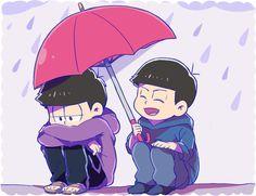 おそ松さん Osomatsu-san 一松&カラ松「雨の後はきっと晴れるって」/「ちさき」のイラスト [pixiv]