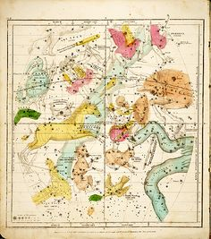 Celestial map. Atlas designed to illustrate the geography of the heavens (Elijah H. Burritt 1835)