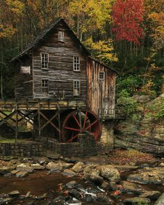 Autumn in Glade Creek Grist Mill, Babcock State Park ~  Landisburg, West Virginia