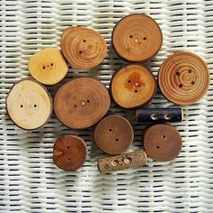 more wooden buttons