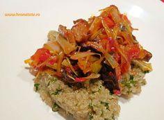 Mancare sanatoasa : Quinoa cu praz si ciuperci shiitake