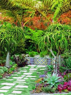 bohemian style garden