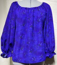 Blue gathered blouse size 6 & 20 Bias Tape, Blue Blouse, Corset, Looks Great, Cosplay, Leggings, Costumes, Tops, Women