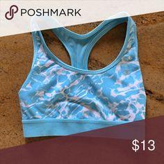 Sports Bra Never worn BLUE and WHITE sports bra. Champion Intimates & Sleepwear Bras