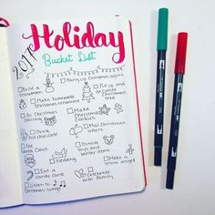Creative Holidays: Perfect collection layout to try in your bullet journal for Christmas! This bujo holiday bucket list is a lovely place to track and organize everything you want to do for the season! Use the ideas I provided or do your own setup, this is a super fun spread to spice up Christmas. Find inspiration for the upcoming holiday!!! #bujoideas #bulletjournalxmas