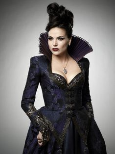 DINNA: Antonia hair up? (Different view)  (Note: Regina from Once Upon a Time)