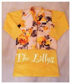 Yellow floral with yellow kurta!!