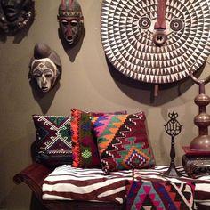 африканский стиль в текстиле - яркий принт, геометрические узоры