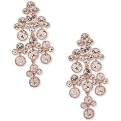 Givenchy Crystal Faceted Chandelier Earrings ($125) ❤ liked on Polyvore featuring jewelry, earrings, rose gold, givenchy, givenchy earrings, post earrings, givenchy jewelry and rose earrings