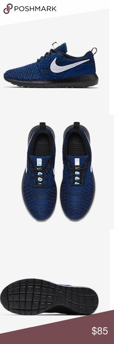 BRAND NEW Nike ID Roshe flyknit men's shoe Extremely comfortable Roshe Nike shoe that is great for running and training in the gym. Nike Shoes Athletic Shoes